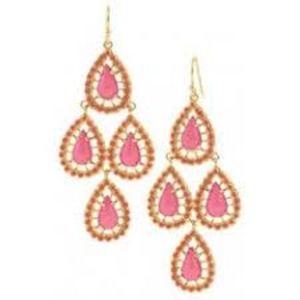 Seychelles Chandeliers-Pink Earrings (Retail: $44)